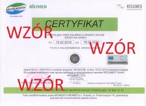 certyfikat 2019 wzór